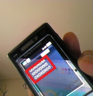 Text detection on a mobile phone screen